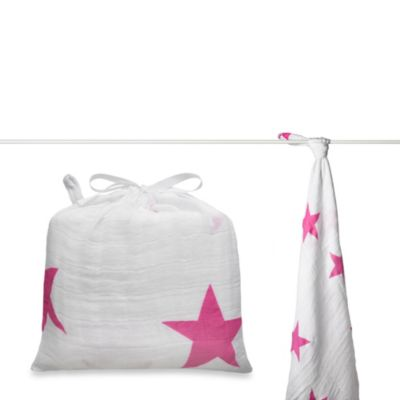 aden + anais® Classic Muslin Swaddle in Twinkle Pink