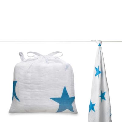 aden + anais® Classic Muslin Swaddle in Brilliant Blue