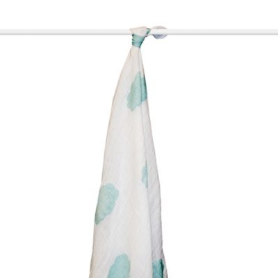 aden + anais® Organic Muslin Swaddle in Sky Blue