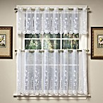 Samantha Sheer Window Curtain Tier Pairs and Valance in White