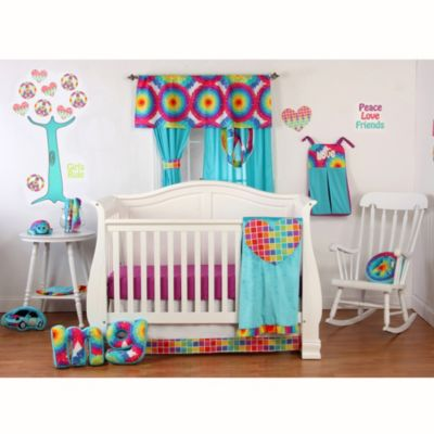 One Grace Place Terrific Tie Dye 5-Piece Crib Bedding Set