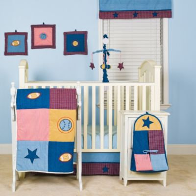 Pam Grace Creations Let's Play Ball 10-Piece Complete Nursery Bedding
