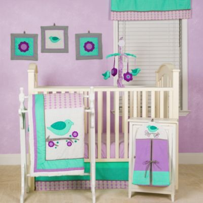 Green and Purple Nursery Bedding