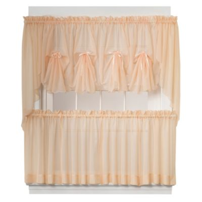 Emelia Window Curtain Tier Pairs in Peach