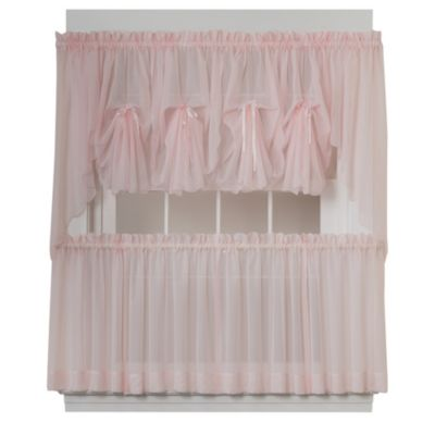 Emelia Window Curtain Fan Valance in Rose