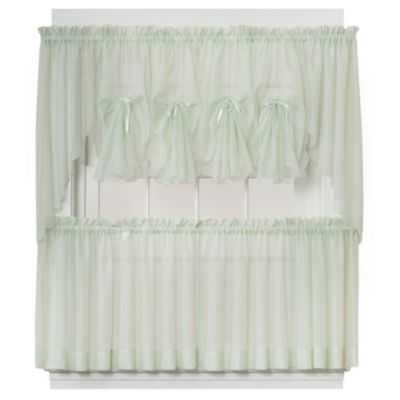 Emelia Window Curtain Fan Valance in Sage
