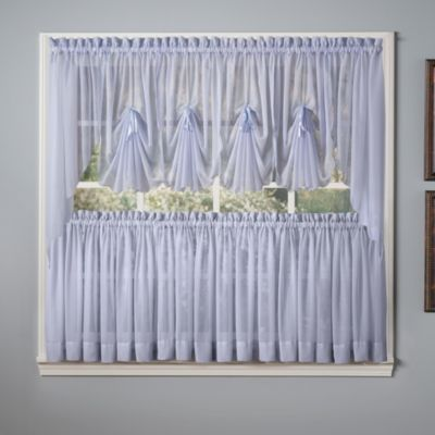 Emelia Window Curtain Fan Valance in Sky Blue