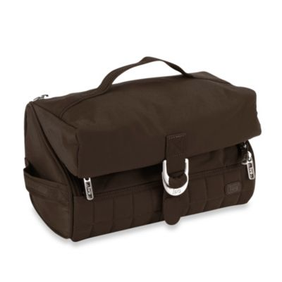 Lug® Flip-Top Toiletry Case in Chocolate Brown