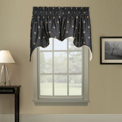 Duchess Swag Window Valance in Black
