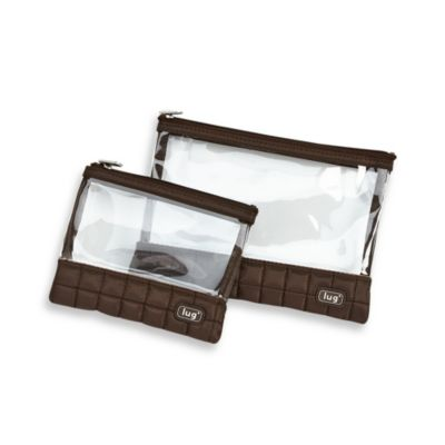 Lug® Zip Storage Packing Pouches in Brown (Set of 2)