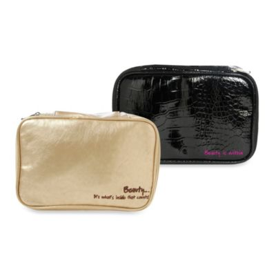 Miamica Inner Beauty 2-in-1 Cosmetic Case in Gold