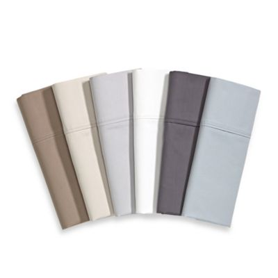 Brookstone® BioSense™ 500 Thread Count King Deep Pocket Sheet Set in Silver