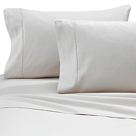 buy brookstone biosense 500 thread count queen deep pocket sheet set in ivory from bed bath. Black Bedroom Furniture Sets. Home Design Ideas