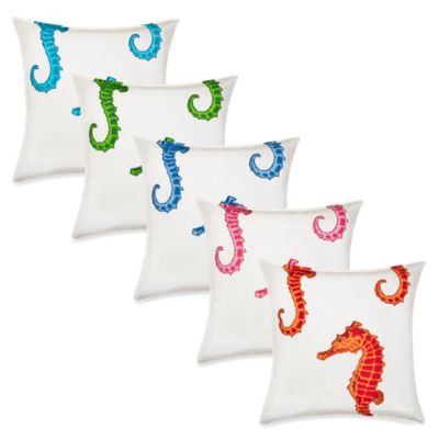 Ecoaccents® Seahorse Canvas Square Toss Pillow
