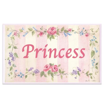 Pink Princess Floral Rectangle Wall Plaque