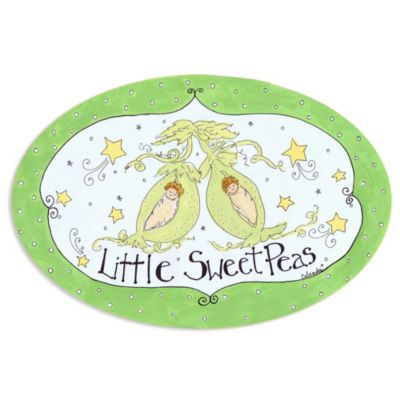 Little Sweet Peas Wall Plaque