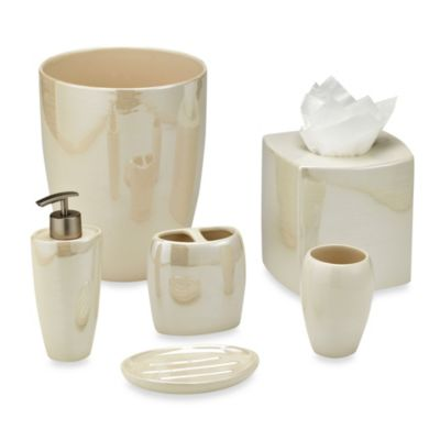 Akoya Pearlized Ceramic Lotion Dispenser in Ivory