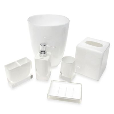 Memphis Boutique Waste Basket Holder in White