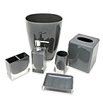 Memphis Grey Bath Waste Basket
