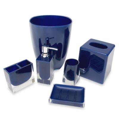 Memphis Wastebasket in Nautical Blue
