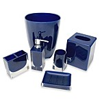 Memphis Waste Basket in Nautical Blue