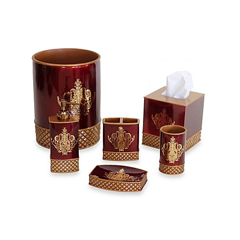 Austin horn classics montecito bath collection bed bath for Red and gold bathroom accessories