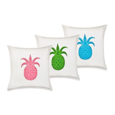 Ecoaccents® Pineapple Canvas Square Toss Pillow