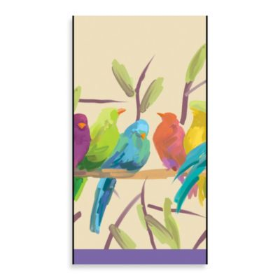 Whisper-Flocked Birds Guest Towel (16-Pack)