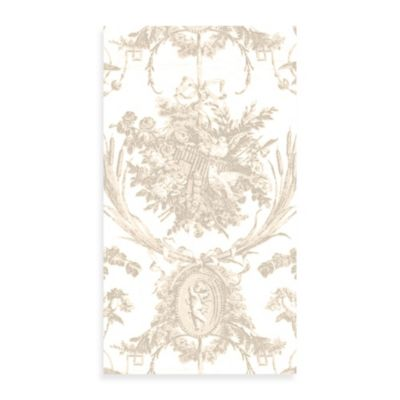 Romantic Toile Natural Guest Napkin 12-Pack