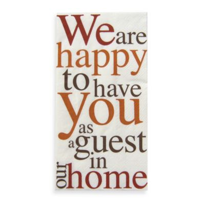 Happy to Have You Guest Towels (Pack of 16)