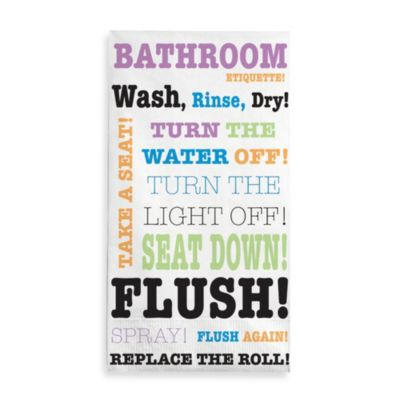 Bathroom Rules 3-Ply Guest Towels (Set of 16)