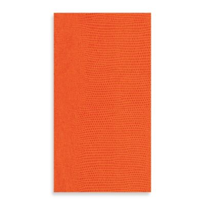Lizard Linen Guest Towels in Orange, Pack of 12