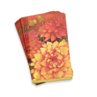Dahlia 3-Ply Guest Towels (Pack of 15)