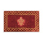 Austin Horn Classics Montecito Embroidered 100% Cotton Rug in Red/Gold