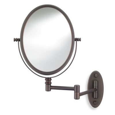 Conair® Oval Bead Wall Mount Mirror in Bronze