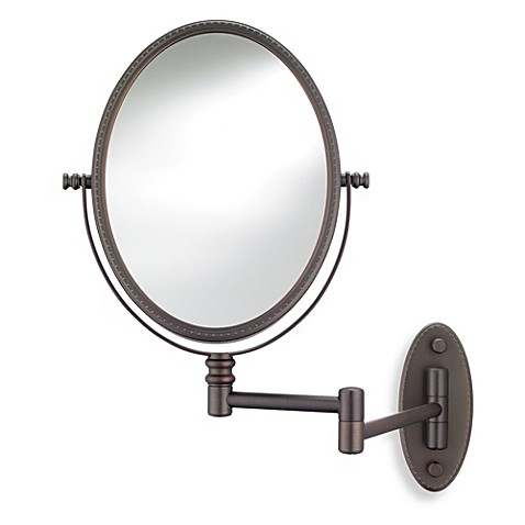 Buy Conair® Oval Bead Wall Mount Mirror in Bronze from Bed ...