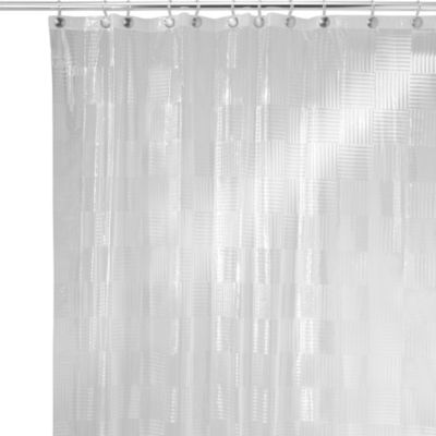 InterDesign® Glassblock 70-Inch x 72-Inch Shower Curtain in Frost