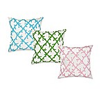 ecoaccents® Coral Lattice Canvas Square Toss