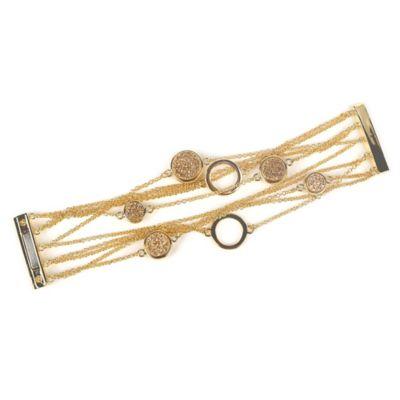 ChristineDarren Gold Round Drusys Multi Strand Bracelet