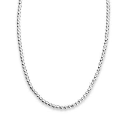 Sterling Silver 4MM, 18-Inch Bead Necklace
