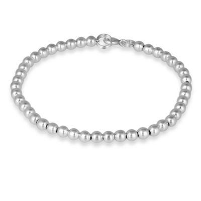 Sterling Silver 4MM Bead Bracelet