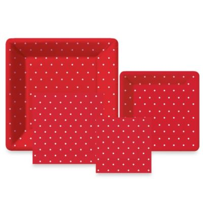 Design Design Swiss Dots Red Collection Tableware Entertaining Kit