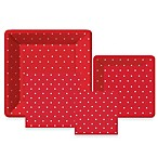 Swiss Dots Red Collection Tableware Entertaining Kit