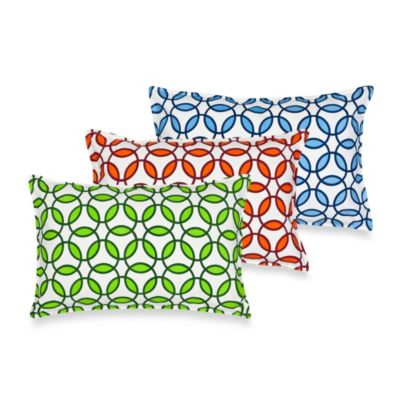 Ecoaccents® Rings Cotton Canvas Oblong Toss Pillow