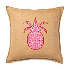 ecoaccents® Pineapple Applique Burlap Square Toss Pillow