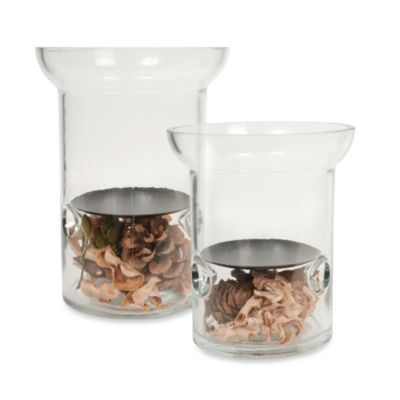 Glass Candle Holders with Potpourri Filler