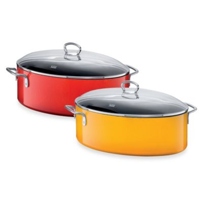 WMF Silit Ceramic 8.5-Quart Covered Oval Roasting Pans
