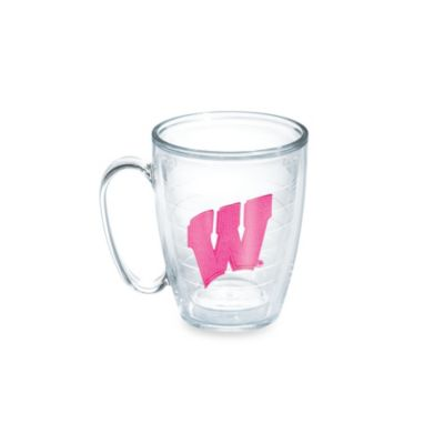 Tervis® University of Wisconsin 15-Ounce Emblem Mug in Neon Pink