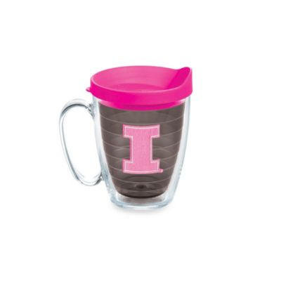 Tervis® University of Illinois 15-Ounce Colored Emblem Mug with Lid in Neon Pink