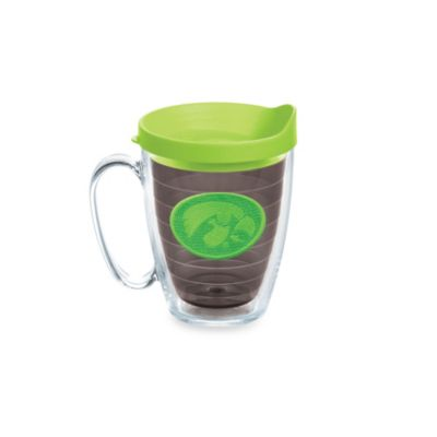Tervis® University of Iowa 15-Ounce Emblem Mug with Lid in Neon Green